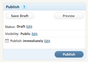 "After working on your playground post, always push ""SAVE DRAFT"" not ""PUBLISH"""