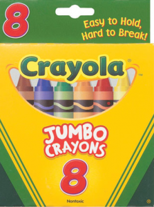 From product catalog at http://www.crayola.com/products