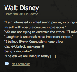 Extra code lost in the Walt Disney post...