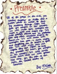 Melissa's Preamble
