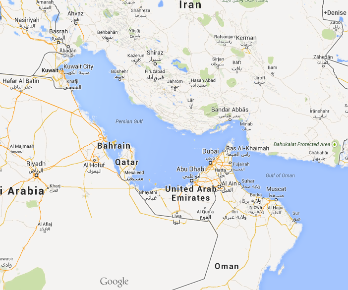 Bahrain on Google Maps