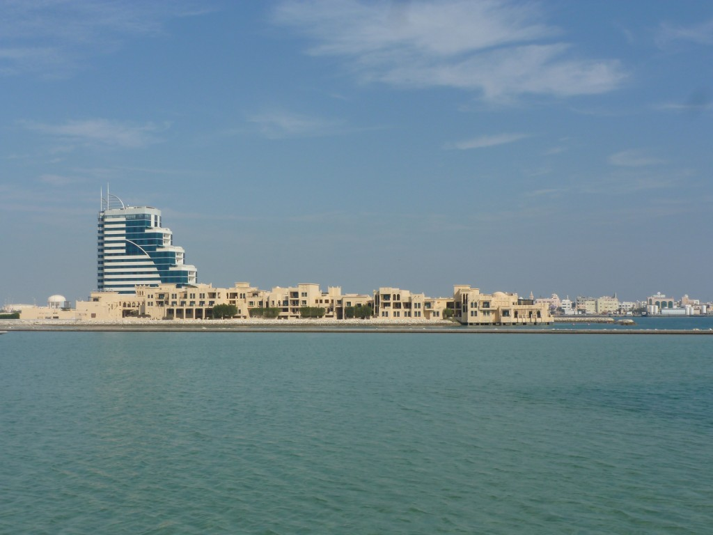 Looking across to Muharraq