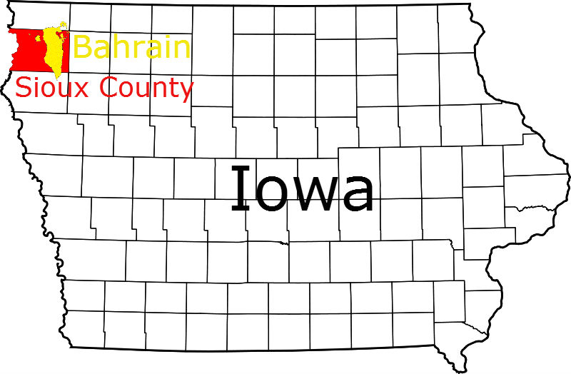 Sioux County Iowa compared to Bahrain