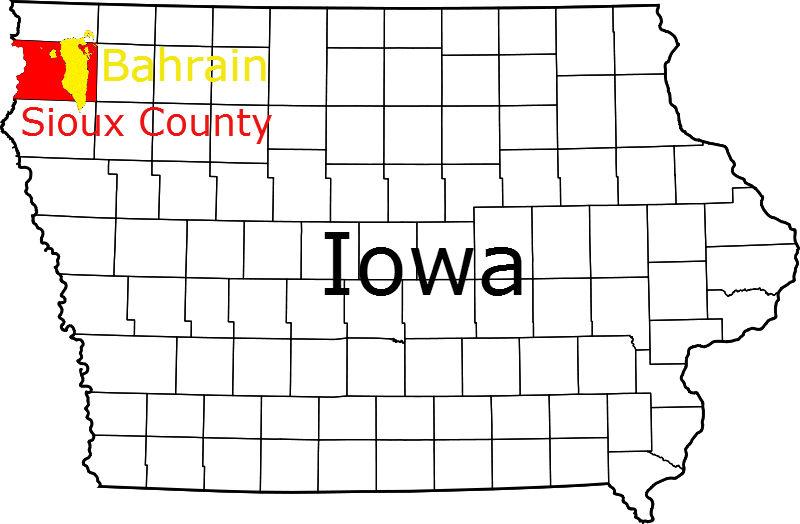 Sioux County Iowa compared to Bahrain