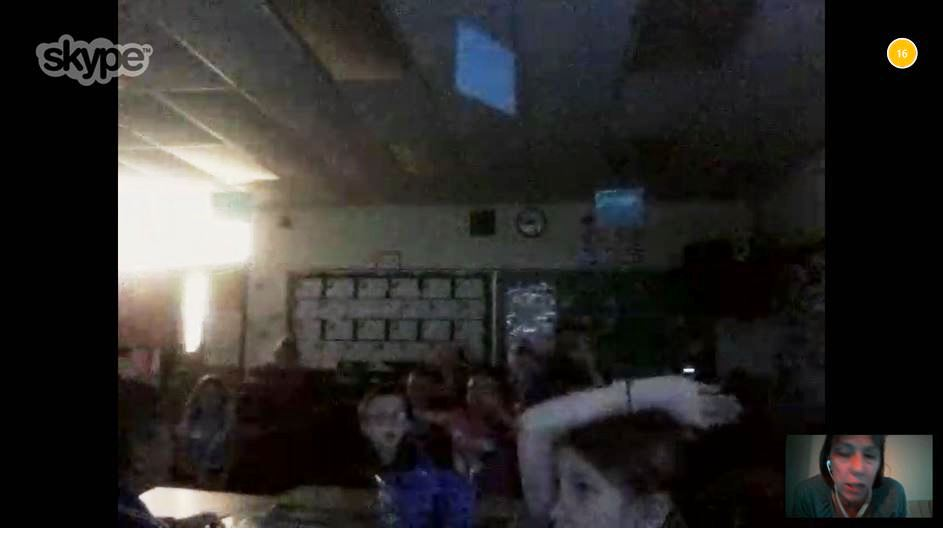 Mrs. Denise's Skype Call with Pen Pals