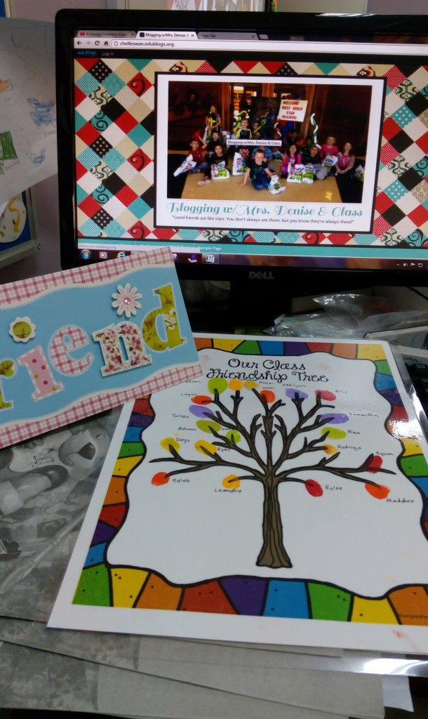 Friendship Tree and Card from our pen pals